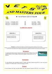 description du vets and master tour 2012