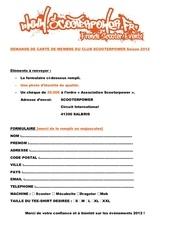 Fichier PDF formulaire carte adherent 2012