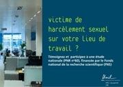 harcelement sexuel sur le lieu de travail flyer