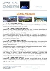 Fichier PDF voyage organise madrid andalousie