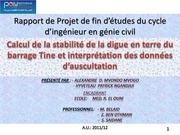 expose rapport de projet de fin d etudes du cycle