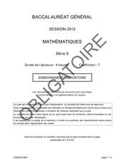 maths s 2012 obligatoire