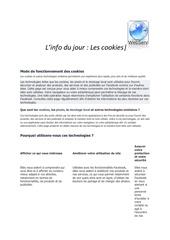 info sur les cookies