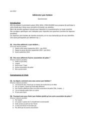 lh questionnaire