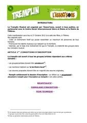 dossier inscription 2012