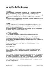 la methode contiguous pdf