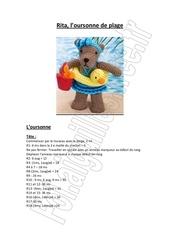 rita l oursonne de plage