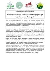 communique de presse condamnation patou