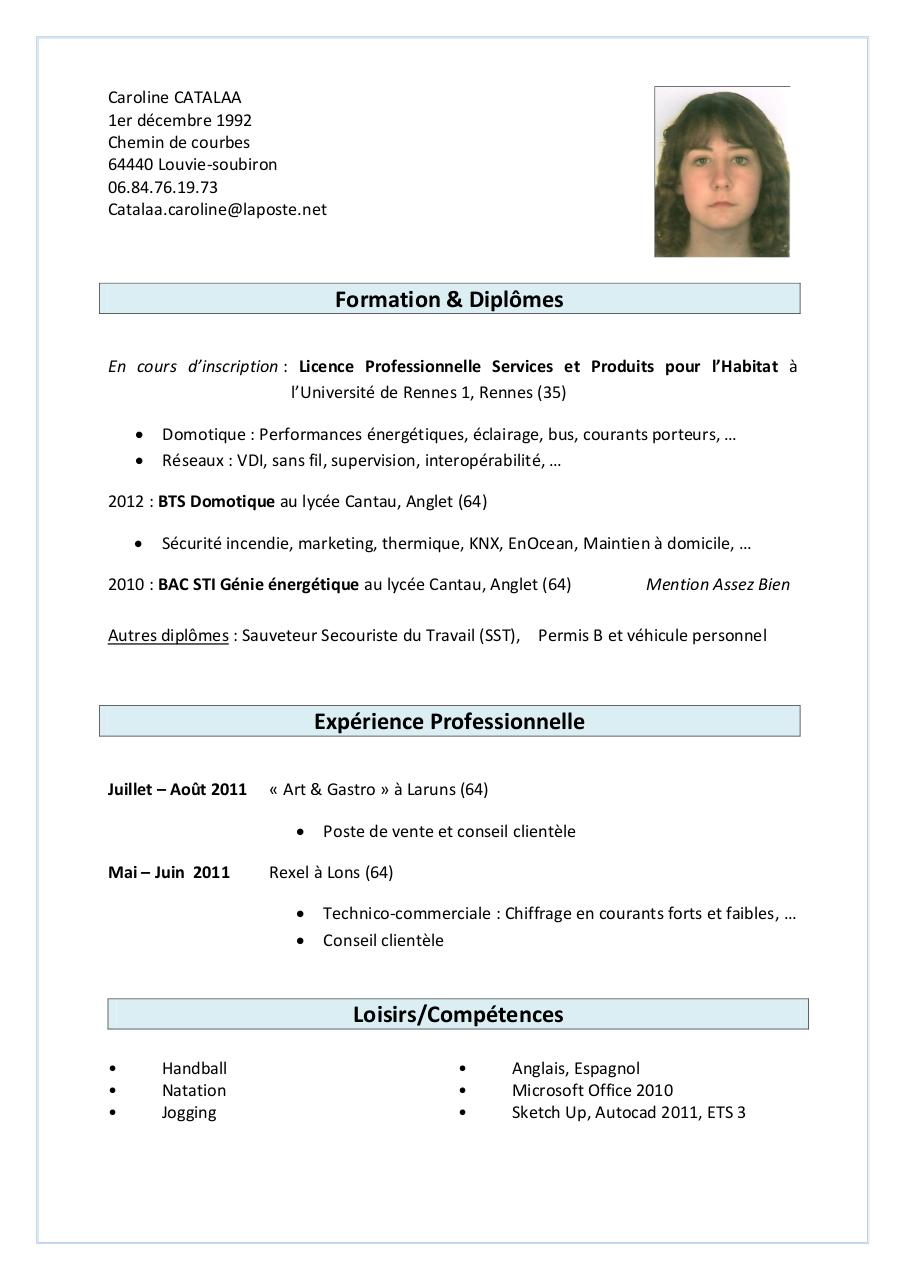 cv caroline catalaa pdf par caro