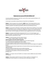 reglement du tournoi epsylon world cup