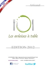 les ardoises a table brochure2012