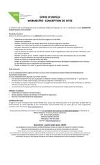 Fichier PDF offre webmestre conception