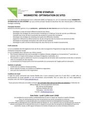 Fichier PDF offre webmestre optimisation