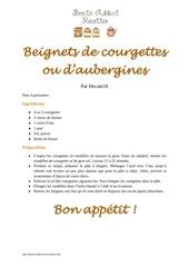 beignets de courgettes ou d aubergines