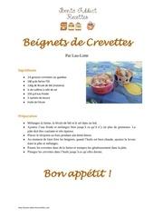 Fichier PDF beignets de crevettes