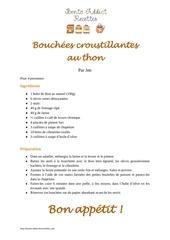 bouchees croustillantes au thon
