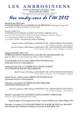calendrier 2012 d e te des ambrosiniens
