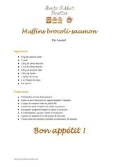 Fichier PDF muffins brocoli saumon