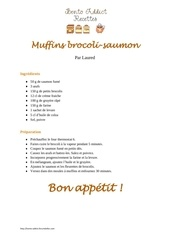 muffins brocoli saumon