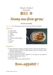 nems au foie gras