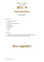 pain de thon