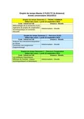 emploi du temps m2 fle pro 2012 2013