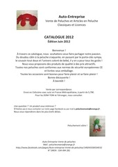 ae catalogue peluches facebook juin 2012
