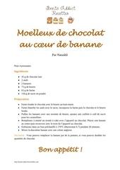 moelleux de chocolat au c ur de banane