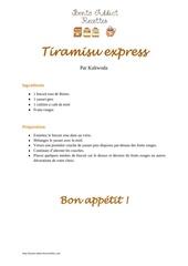 tiramisu express