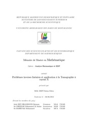 problemes inverses lineaires et application a la tomographie a r