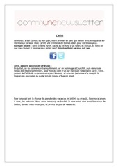 communevenement newsletter juillet 2012