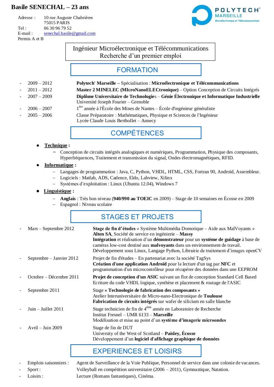cv senechal pdf par bsenechal