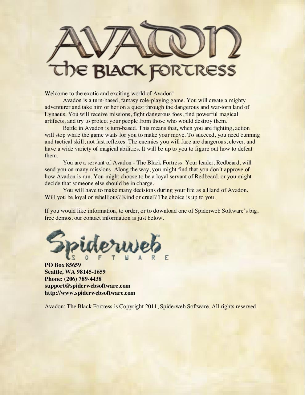 Fichier Bidon ASF par Spiderweb Software - Fichier PDF