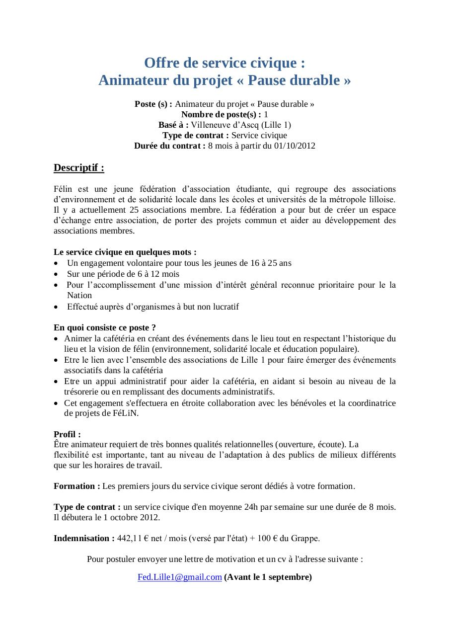 lettre de motivation animateur developpement local