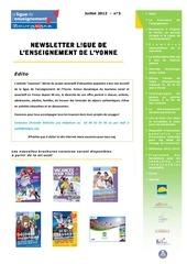 newsletter 3 juillet 2012