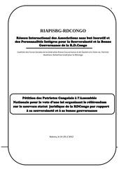 note explicative de la petition du riapisbg rdcongo sur le nouveau statut juridique de la rdcongo telle qu enrichie en juillet 2012