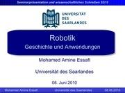 robotik geschichte und anwendungen presentation converted