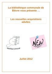 biblionews adultes n 4 juillet 2012