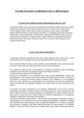 lettre ouverte au president de la republique francaise copie