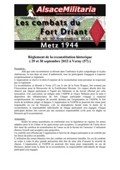 reglement de la reconstitution verny 2012