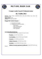 compte rendu de l ag du 03 juillet 2012
