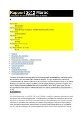 Fichier PDF rapport 20122 la situation des droits humains dans le monde maroc