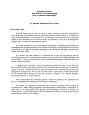 Fichier PDF admin au maroc