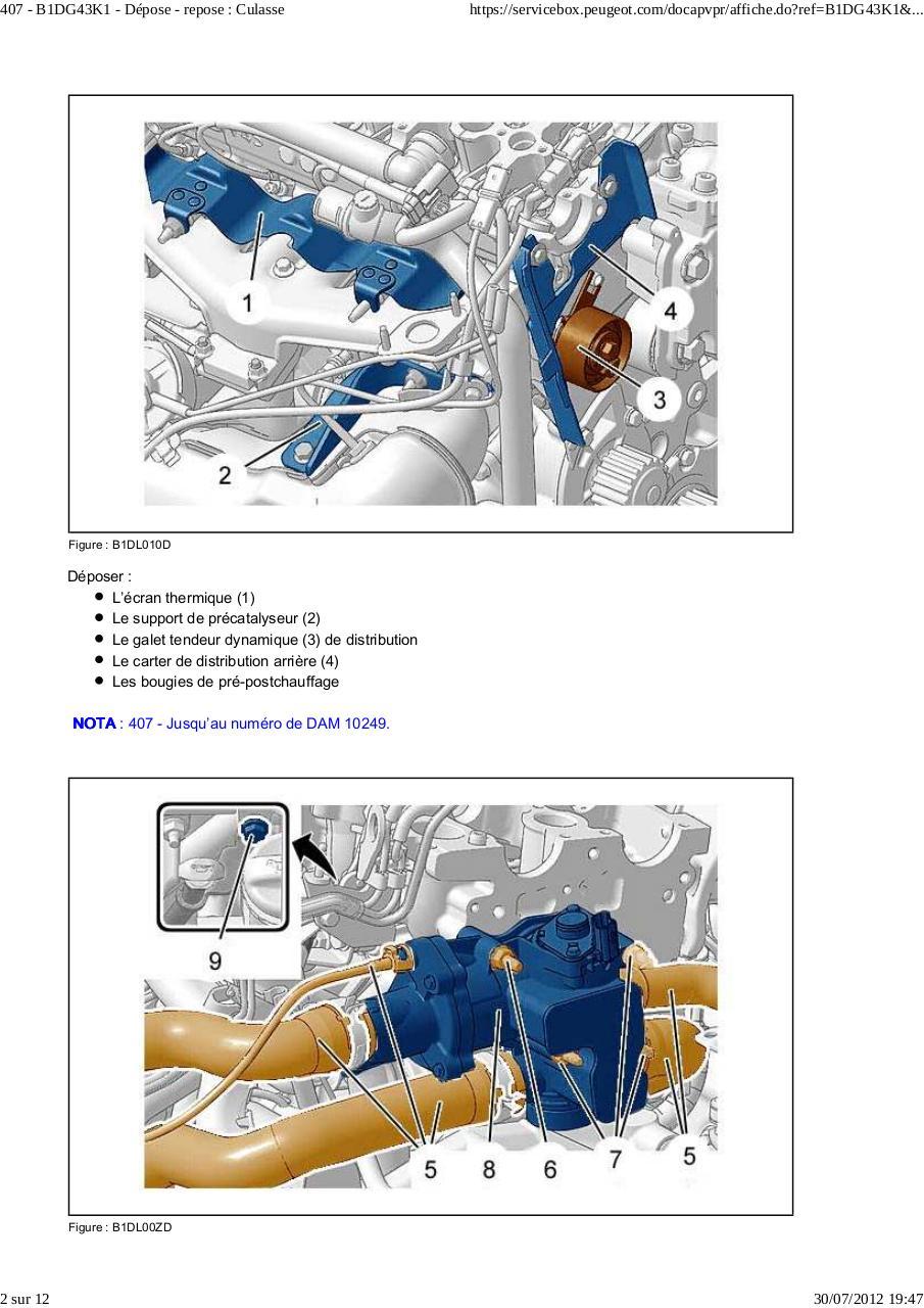 407 b1dg43k1 d pose repose culasse par doudou d pose repose culasse pdf fichier pdf. Black Bedroom Furniture Sets. Home Design Ideas