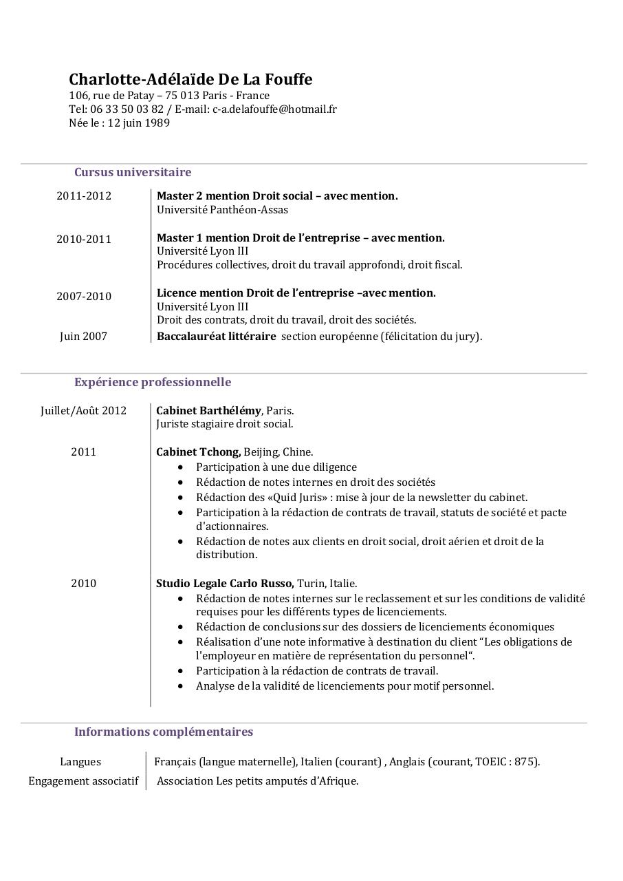 cv ca-delafouffe doc pdf par haldric