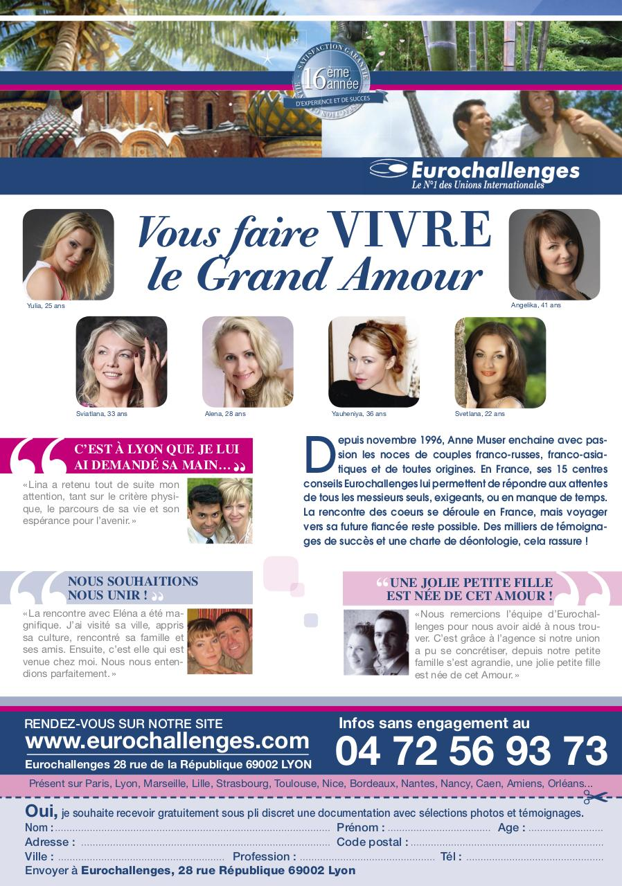 Rencontre femmes russes parlant français