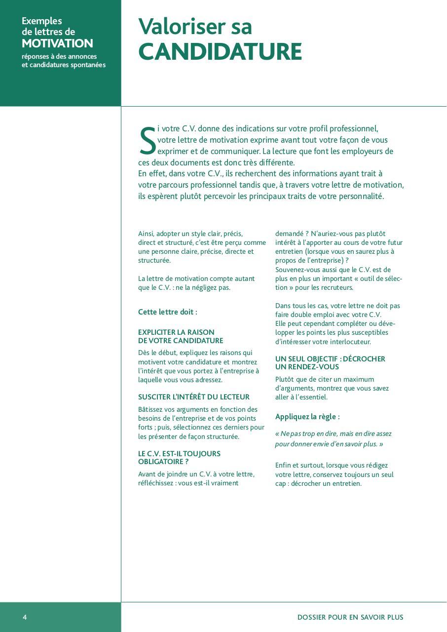 20122 G1 Internet Exemples De Lettres De Motivation 1 Pdf