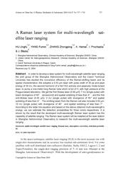 a raman laser system for multi wavelength