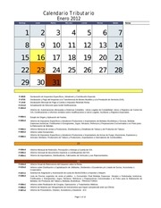 calendario tributario2012