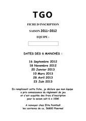 Fichier PDF inscription saison 2011 2012 saison complete